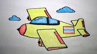 getlinkyoutube.com-วาดรูป เครื่องบิน สอนวาดรูปการ์ตูนน่ารักง่ายๆ สอนวาดรูปการ์ตูนระบายสี How To Draw Airplane Cartoon