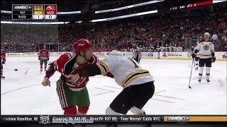 getlinkyoutube.com-Milan Lucic vs Ryane Clowe Mar 18, 2014