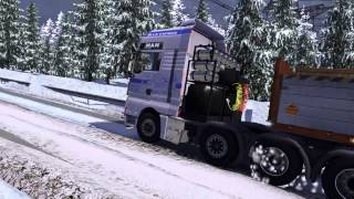 getlinkyoutube.com-ETS2 MAN 8x8 The Snow
