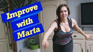 getlinkyoutube.com-Squats with a serial feet lunges - Improve With Marta