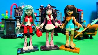 getlinkyoutube.com-3 NEW Monster High Mega Bloks Minifigures & Building Sets Unboxing Toy Review