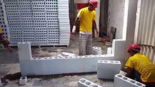 getlinkyoutube.com-Bloco de gesso estrutural hidro