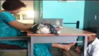 getlinkyoutube.com-Caught on camera: school teacher makes student massage her feet