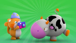 getlinkyoutube.com-Looi the Cat | 3D Animation for Kids | Cow | Animal Toy Cartoons | Puzzle