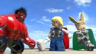 getlinkyoutube.com-Thor vs Red Hulk vs Loki - LEGO Marvel Super Heroes