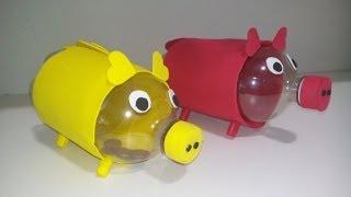 getlinkyoutube.com-Cofrinho de porquinho feito com garrafa pet