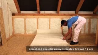 getlinkyoutube.com-Izolacja dachu skośnego wełną mineralną URSA
