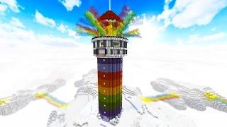 getlinkyoutube.com-100 vs 2 RAINBOW TOWER OF DEATH - FAN BATTLE! with PrestonPlayz & MrWoofless