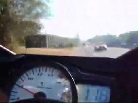 RACHA  de MOTO a 299 KM h e é depois cercado pela Policia Federal