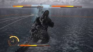 getlinkyoutube.com-GODZILLA PS4 versus mode : Godzilla 90's ( spiral ) vs. SpaceGodzilla vs. MechaGodzilla