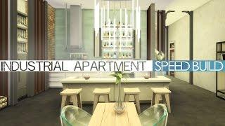 getlinkyoutube.com-The Sims 4 Speed Build - INDUSTRIAL APARTMENT 2