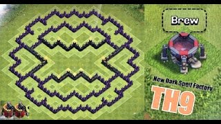 getlinkyoutube.com-Clash of Clans - Town Hall 9 Farming Base + New Air Sweeper (TH9) + Dark Spell Factory 2015