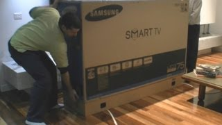 "Samsung LED TV 75"" 8000 series UNBOXING"