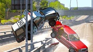 getlinkyoutube.com-BeamNG Drive - Best of High Speed Crashes #5
