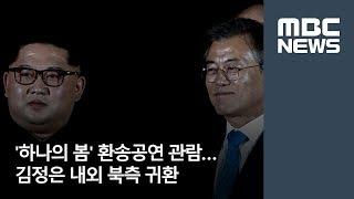 '하나의 봄' 환송공연 관람…김정은 내외 북측 귀환  [뉴스데스크]