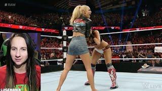 getlinkyoutube.com-WWE Raw 3/7/16 Lana Interrupts Brie vs Summer Rae