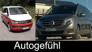 getlinkyoutube.com-Best transporter/shuttle comparison test review Volkswagen T6 Multivan vs Mercedes V-Class V-Klasse