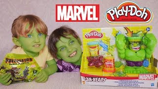getlinkyoutube.com-[JOUET] Boite Play Doh Hulk & Predasaurs - Unboxing Incredible Hulk Marvel Play Doh & Predasaurs