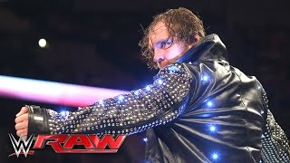 getlinkyoutube.com-Dean Ambrose destroys Chris Jericho's jacket: Raw, May 9, 2016