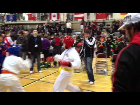 Kieran Sparring at the Toronto Tournament of Martial Art Champions