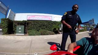 Pulled over by the La Mesa Police while riding my velomobile