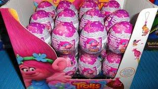 getlinkyoutube.com-2016 DreamWorks Trolls Movie 24 Chocolate Surprise Eggs - Toys ??? Unboxing