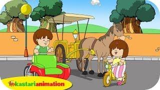 getlinkyoutube.com-Kutahu Nama Kendaraan (becak, delman, sepeda) - Kastari Animation Official