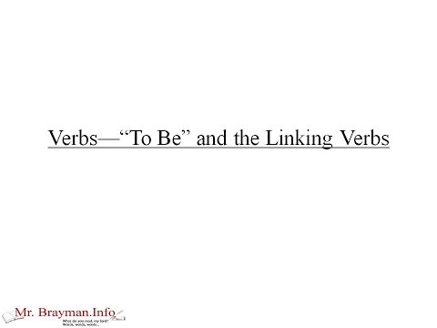 Verbs To Be and Linking