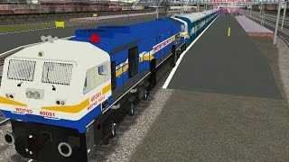 getlinkyoutube.com-(MSTS) Train Simulator Indian Railways - WDP4D arriving Ghaziabad