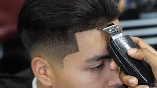 getlinkyoutube.com-HAIRCUT TUTORIAL: LOW FADE WITH LONG HAIR BLOW DRIED BACK