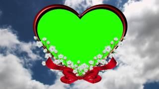 romantic cloud in green screen free stock footage