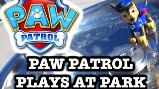 "getlinkyoutube.com-PAW PATROL Visits Park [Parody] Chase & Marshall Climb & Swing ""a Paw Patrol Toy Parody Video"""
