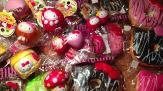 getlinkyoutube.com-Sanrio squishy collection!!!