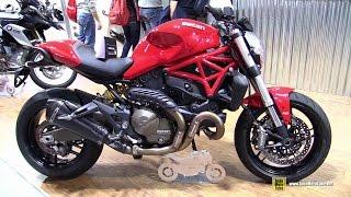 getlinkyoutube.com-2015 Ducati Monster 821 with Slip-on Exhaust Kit by Zard - Walkaround - 2014 EICMA Milan Moto Show