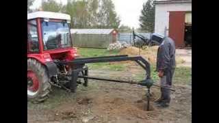getlinkyoutube.com-008 самодельный ямобур на трактор МАСТЕР-ЯРД 244WD