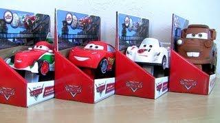 getlinkyoutube.com-REV UPS CARS Lightning McQueen Mater Cars2 Ripstick Shu Todoroki Disney Pixar car-toys Blucollection