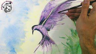 getlinkyoutube.com-Acuarela para Principiantes: Cómo Pintar un Pájaro con Efectos