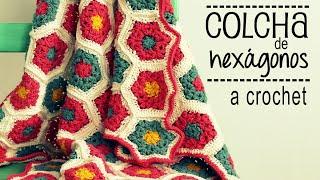 getlinkyoutube.com-Colcha de Hexágonos a Crochet - PASO A PASO - Parte 1 de 2