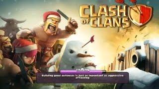 getlinkyoutube.com-Clash of clans - chopping down my Christmas tree! ( santa suprise )