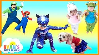 getlinkyoutube.com-KIDS COSTUME RUNWAY SHOW Top costumes ideas for family, kids, baby, dog Disney Marvel Superheroes