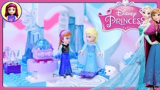 Lego Junior Disney Princess Anna & Elsa's Frozen Playground Build Review Silly Play Kids Toys
