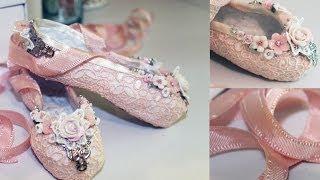 getlinkyoutube.com-Paper Mache Ballet Slippers Tutorial - Shabbylishious DT Project