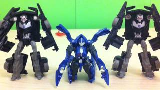 getlinkyoutube.com-Transformers Prime Stop Motion: Desktop Danger Part 2.