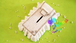getlinkyoutube.com-كروشية جراب علبة مناديل على شكل سرير |خيط وإبرة | Crochet tissue box cover  in the form of bed