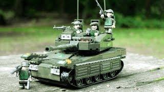 getlinkyoutube.com-Sluban LandForce 2 - Amphibious Onrush Militär Baukasten mit Mega Bloks und LEGO kompatibel