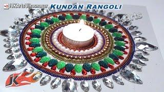 getlinkyoutube.com-DIY Kundan Rangoli Design on OHP Sheet   How to make   JK Arts 402