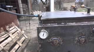 getlinkyoutube.com-Котел Холмова горит  без дыма . через 40 минут после розжига
