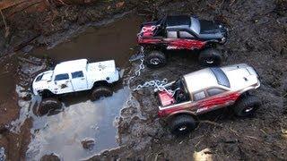 getlinkyoutube.com-RC ADVENTURES - Muddy Micro 4x4 RC Trucks Get Down & Dirty in BOG oF DOOM