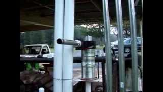 getlinkyoutube.com-Wood gasifier running engine