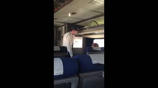 getlinkyoutube.com-Crazy woman loses her shit on train from Denver